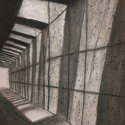 LABO Volwassenen: Ruimte, contrast, perspectief in houtskool