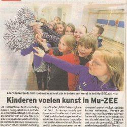 Kinderen voelen kunst in Mu.ZEE