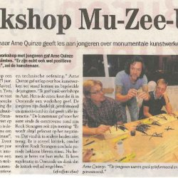 Workshop mu-zee-um met Arne Quinze