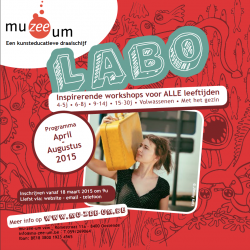 Nieuwe LABO-brochure april - augustus 2015