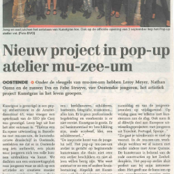 Nieuw project in pop-up atelier mu-zee-um