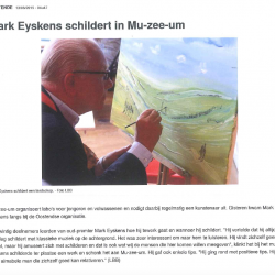 Mark Eyskens schildert in mu-zee-um