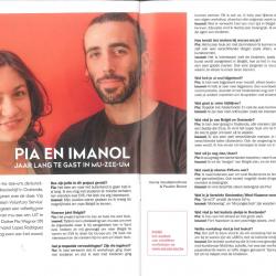 Pia & Imanol, een jaar lang te gast in mu-zee-um