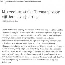 mu-zee-um strikt Tuymans voor 15e verjaardag