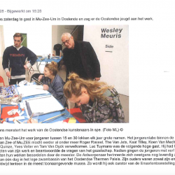 Luc Tuymans monstert het werk van Oostendse kunstenaars in spe