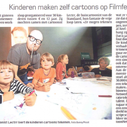 Kinderen maken zelf cartoons op Filmfestival